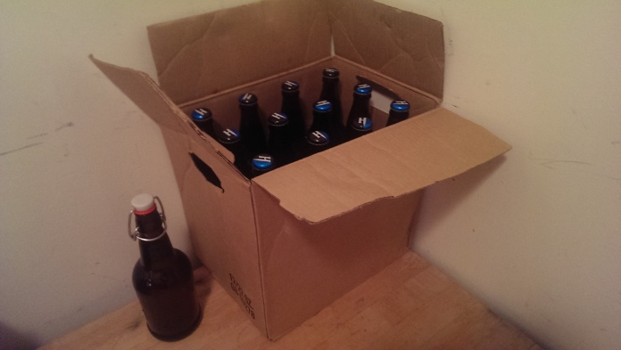 Cider Batch #4 Yield is twelve 22 oz bottles, plus a flip top tester to judge when to pasteurize.