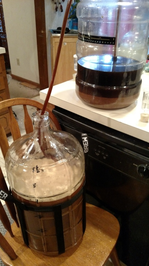 Racking the Fluffernutter Sammie Stout.