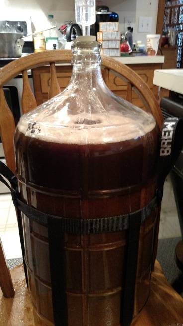 5-1/2 gallons into secondary fermentation.